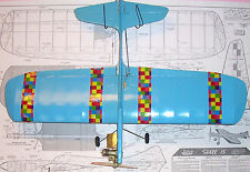 "Jetco SHARK 15 PLAN to Build a Full Flaps 36"" Profile UC Stunt Model Airplane"