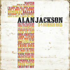 ALAN JACKSON (34 NUMBER ONES - GREATEST HITS 2CD SET SEALED + FREE POST)