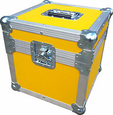 "Flight Case Swan 12"" Single LP 100 Vinyl Record Box (Yellow Rigid PVC)"