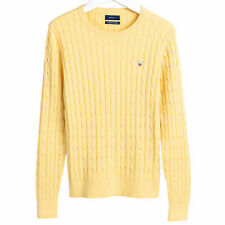Gant Stretch Cotton Cable Crew Womens Jumper Knits - Sunlight All Sizes