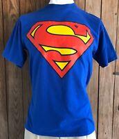 Superman Men's XL Tshirt Blue Short Sleeve DC Comics Super Hero