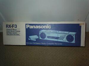 Panasonic RX-F3 Vintage 1980's AM/FM Stereo Radio Boombox Ghetto Blaster NEW NIB