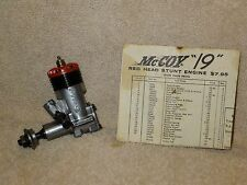 Testors McCoy .19 Red Head Engine, vintage, collectible