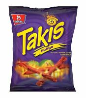 6 EA Large Takis Fuego Rolled Corn Tortilla Chips Chilli Pepper & Lime 9.9 oz