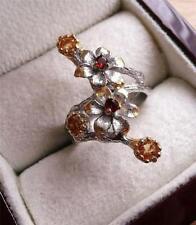 Handmade Cluster Natural Sterling Silver Fine Rings