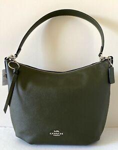 New Coach 91029 Skylar Hobo Pebble Leather handbag Cargo Green