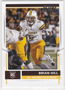 2017 Score Football Rookies Brian Hill RC #424 *** Wyoming ***