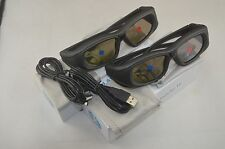 2X RF/Bluetooth Active 3D Glasses For Epson 2030 750HD 5030 Projecotor
