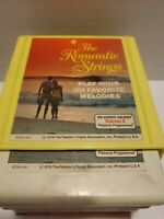 VTG READERS DIGEST THE ROMANTIC STRINGS  CLASSICS, 1-3 8TRACK TAPES W/CASE 1979