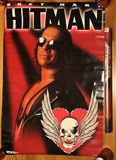 VINTAGE HITMAN BRET HART POSTER1998 LJN HASBRO WRESTLING WWE WWF WCW NWO ECW