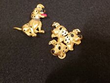 Two vintage signed Disney 101 Dalmatians Brooches/Pins - Excellent condition