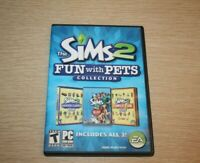 Sims 2: Fun With Pets Collection (PC, 2010) Complete in Box w/ Product Key