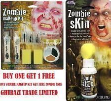 Zombie MAKEUP KIT +  FREE ZOMBIE SKIN SPECIAL Halloween ZOMBIE FX Makeup KIT