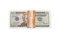 PROP MONEY, (80)New 20 dollar bill, COPY, Pranks, Advertising & Novelty