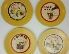 Set of 4 Pottery Barn Hefeweizen Lager Beer Series Yellow Salad Lunch Plates 8""