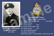 aviation art pilot photo postcard WW2 Leslie Knight 617 Squadron Dambusters Eder