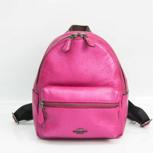 Coach PEBBLE LEATHER MINI CHARLIE BACKPACK F29795 Women's Leather Backp BF529223