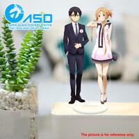 Anime Sword Art Online Asuna Kirito Acrylic Stand Figure display toy model Gift