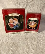 "Hallmark Keepsake ""The Clauses on Vacation"" series-  1997 #1 and 1998 #2"