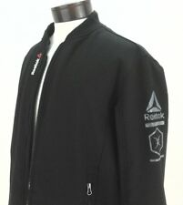 Men's Reebok Outerwear Full-Zip Bomber Jacket OMRB096H Large Black $160 New
