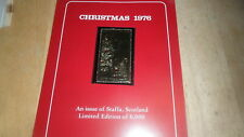 STAFFA SCOTLAND - CHRISTMAS 1976 GOLD STAMP