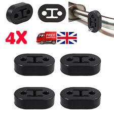 4PCS Car Rubber Exhaust Tail Pipe 2 Holes Diameter 11mm Mount Bracket Hanger UK