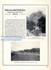 Architect Schoenwald & Schober Gliwice XL 1925 German ad construction ad +