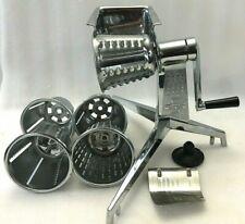VTG SALADMASTER Food Processor 5 Cones Slicer Grinder Grater Guard Hand Crank US