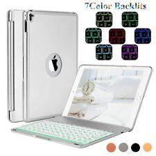 "Bluetooth Keyboard Folding Case For iPad Pro 9.7"" Air 2 Mini /7Colors Backlit WF"