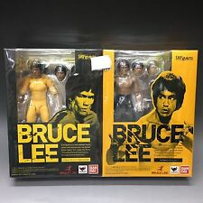 BRUCE LEE SET Bandai Action Figure S.H.Figuarts Yellow Track Suit F/S Tracking