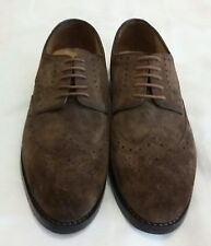 DS Limited Edition Suede Derby Brogues Shoe Brown Size uk 6 eu 40