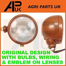 PAIR ORIGINAL DESIGN David Brown 900 950 990 995 996 Tractor Headlights Headlamp
