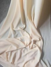 "1 MTR QUALITY CREAM GEROGETTEE CREPE FABRIC...58"" WIDE £1.50 CHEAP PRICE!!!"