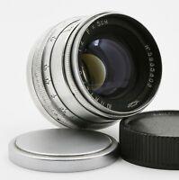 Exc! JUPITER-8 2/50 mm Russian Rangefinder lens screw M39 Leica FED Zorki KMZ