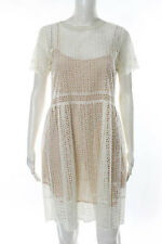 Marc Jacobs Off White Lace Short Sleeve X LBM S/S Dress Size 2 New $1565 113962