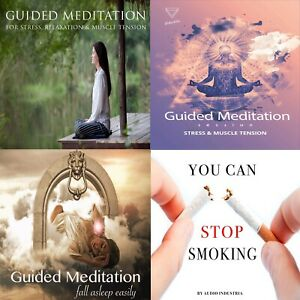 GUIDED MEDITATION CD BUNDLE X4 CD FOR STRESS ANXIETY INSOMNIA STOP SMOKING