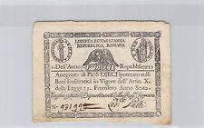 ITALIE 10 PAOLI TRIANGLE AN 7 (1798) N° 931999 PICK S 540 a