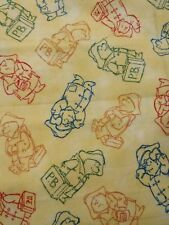 2007  Paddington Bear Multicolored Silhouette Fabric By Quilting Treasures  1/2