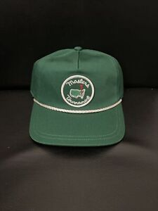 Masters Augusta National Golf Green Cotton Rope Adjustable Hat 2021 Rare Unisex