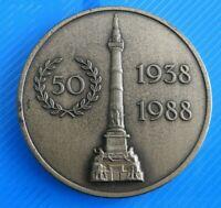"""#0411# JOLIE MEDAILLE EN BRONZE """"ANCIENS COMBATTANTS 1914-1918/ 1940-1945"""""""