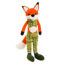 House of Paws Christmas Green Fox Dog Toy   Squeaky Festive Xmas Forest Animal