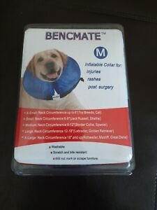 Bencmate Inflatable Collar For Injuries Rashes Post Surgery For Dogs Cats Sz M