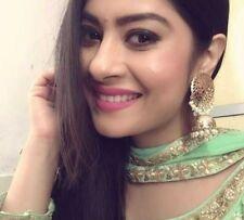 22K Gold Plated Indian Jhumka Wedding Gorgeous Jewelry jinamehta viva Pearl