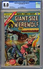 Giant-Size Werewolf by Night #3 CGC 8.0 VF OwWp Marvel Comics 1975 Gil Kane Cvr