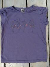 T-shirt manches courtes violet imprimé danseuses TAPE A L'ŒIL taille 5 ans/110