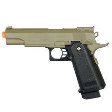 Airsoft Spring Pistol Gun Galaxy G6T Full Metal Slide 1911 Hi-CAPA 290 FPS Tan