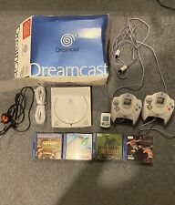 Sega Dreamcast consola de videojuegos, 2 controladores, memoria, 4 Juegos, faltan Av Cab