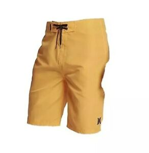 """Hurley Men's One & Only Supersuede 21"""" Boardshort Size 28 Yellow"""