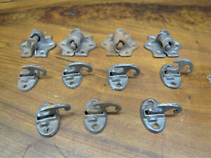 Antique Cast Iron Shutter Hinges & Latches. Victorian House style Hardware.