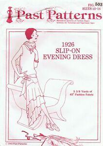 Uncut Past Patterns 1926 Slip On Flapper Dress 10-16 Uncut FF Halloween Costume